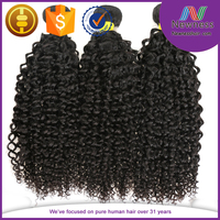 100% Human Hair brazilian remy human hair kinky curly weave natural chinese extension hair
