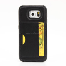Anti-Shock Case with Stand for samsung s6 edge case , mobile phone leather case for samsung galaxy s6