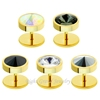 China Wholesale Piercing Fake Plugs Gold Plated Rhinestone Fake Tunnel Earrings