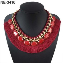 Bohemia Borla collar de piedras preciosas Gemstone tassel necklace