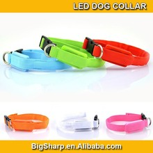 1.5mm wide XS small LED Nylon Collar Pet Dog Safety Light-up Flashing collar Glow 18-28cm Size for small puppy cat dog DC-1509A