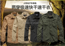 Men's outdoor Long sleeve fast dry Swat shirts dual shirts clothing 4colors