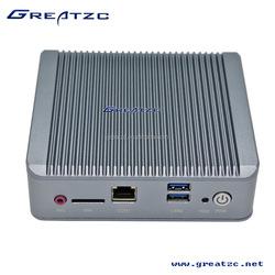 ZC-G19DL Fanless Mini PC With Dual LAN, VGA Fanless Mini PC With USB3.0, Quad-Core Mini PC With Celeron J1900 CPU