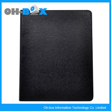 leather lichi pattern flip case stand pocket cover for ipad case