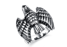 2015 feichang titanium steel metal eagle men's young boy rings in china sale for men