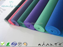 Mylon eco-friendly PVC yoga mat economical for promotion item and easy to carry
