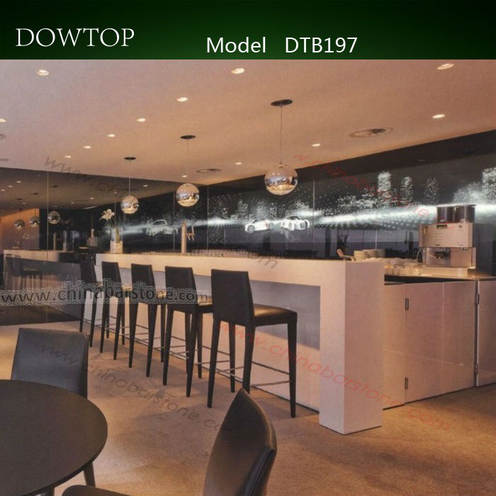 modern Color changing led light restaurant bar counter bar table design-바 테이블 ...