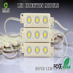 3 chips 5050 SMD led module samsung led module IP67/ 12V 0.72W Injection LED module with red 3M adhesive