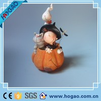 Resin Pumpkin Cute Cartoon Halloween Fall Figurine Autumn Home Decor