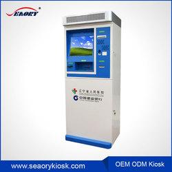 Customized Hospital card dispenser kiosk machine design, touch screen information interactive kiosk