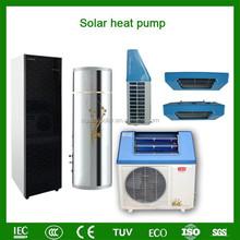 Home sanitary using 60deg.C save 80% power COP5.32 220V 5kw,7kw,9kw tankless split air heat pump combination solar heat system