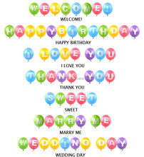 Top quality Colorful air balloon,words/letters balloon, inflatable floating print balloon advertising balloon decoration