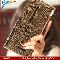 2015 New 100% Genuine good leather brand women wallets 14colors Crocodile 3D purse wholesale fashion leather wallets hot selling