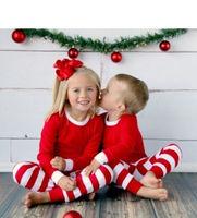 childrens pajamas wholesale christmas kids striped ruffle christmas sets baby girls christmas sleep wear
