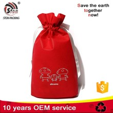 Hot selling custom cotton drawstring cosmetic gift bag for shopping promotion