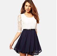 Walson 2015 2015 new style women clothing of summer dress polyester lace dresses