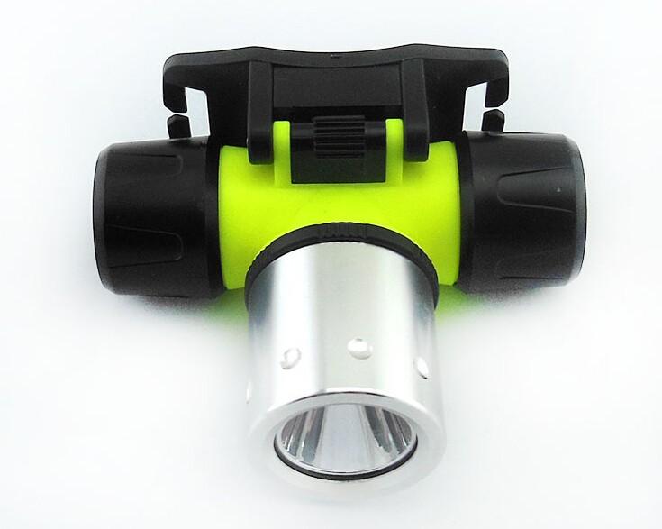 lamp head diving waterproof led flashlight battery 1800lm submarine