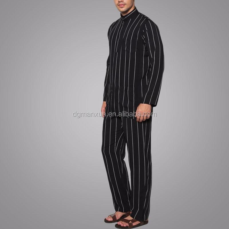 Wholesale Clothing Dubai Men Islamic Clothing Stand Collar Baju Melayu Regular Fit Jubba Photo (4).jpg