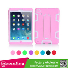 Stand Durable Plastic & Silicone Combo Shock Absorption Robot Case for iPad Mini