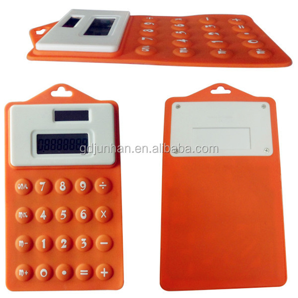 Promotion rubber mini desktop calculator