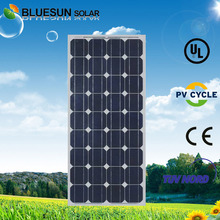 Bluesun top 10 chinese mono 100w solar panel price for home use