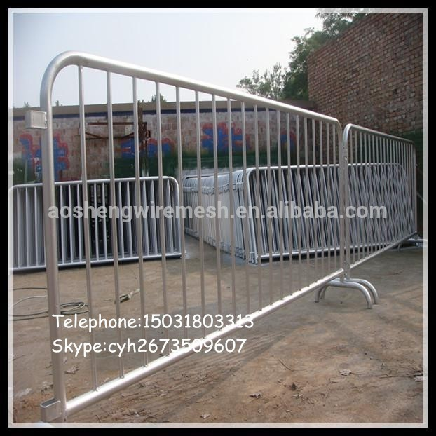 Hot dipped galvanized retractable safety barriers