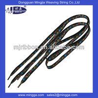 popular design cotton fabric sublimation custom shoe laces printed