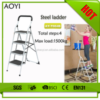 AY chinese wholesale non slip rubber feet folding ironing board with step ladder