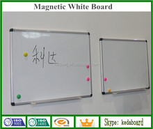 Wall Mounted Magnetic Dry Wipe Board with pen tray
