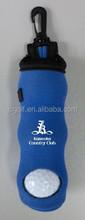Neoprene min golf balls and tee holder bag