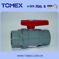 cpvc two pieces ball valve plastic handle