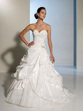 Tafetán sin respaldo patrones para vestidos vestido de bola del amor Blancas