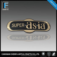 Manufacturer custom chrome acrylic name badge for car and motorcycle