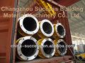 Pre-stressing de concreto fiado pilha pilha molde de aço / girou que faz a máquina
