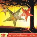 Dobrável opcional braços estrela lanternas de papel branco pendurado decorativas