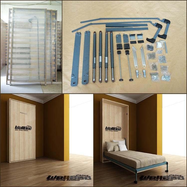 Cama de la pared litera mecanismo de dos pisos-Camas plegables ...