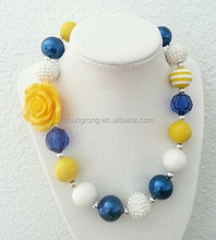 orange rose popular baby girl jewelry white blue and orange bead girl jewelry