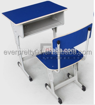 College Adjustable Combo School Desk And Chair Sets For Student