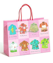 HIgh quality recycled shopping gift slogan paper bag
