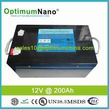 deep cycle life solar 12v 200ah lithium ion battery