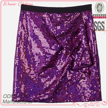 club/party wear women sexy short skirt with beaded for fat woman