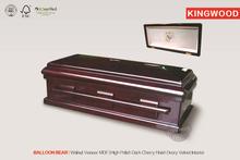 BALLON BEAR Pet Teak Casket china wood casket manufacturers