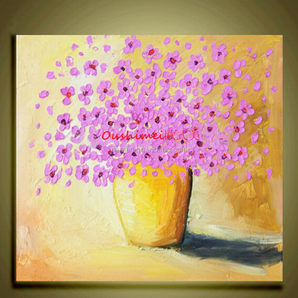 Abstract Knife Flower On Canvas Hand Painted Pictures Hang Oil ...