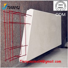 50mm 75mm thickness australian hotsale wall panel, factory made precast concrete wall for holiday villa house
