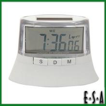 2015 New arrival solar power led digital clock,Small Solar LCD clock display wholesale,Cheap solar power LCD alarm clock G20C102