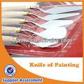 de acero inoxidable de la pintura del artista cuchillos cuchillos paleta para pintura al óleo