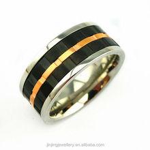 2015 Custom Wholesale Rose Gold stainless steel ring