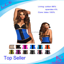 Body Slimming fajas columbian plus size waist trainer corset steel boned classic latex corset