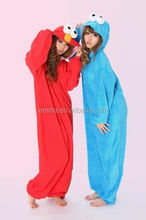 Various color sexy adult onesie fancy dress cosplay sesame street party costume for sale BWG-4166