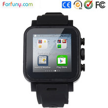 5mp camera 3G wifi gps watch/cell phone watch/Android smart watch with google pay store